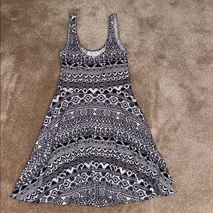 Aeropostale Black & White Tribal Print Dress